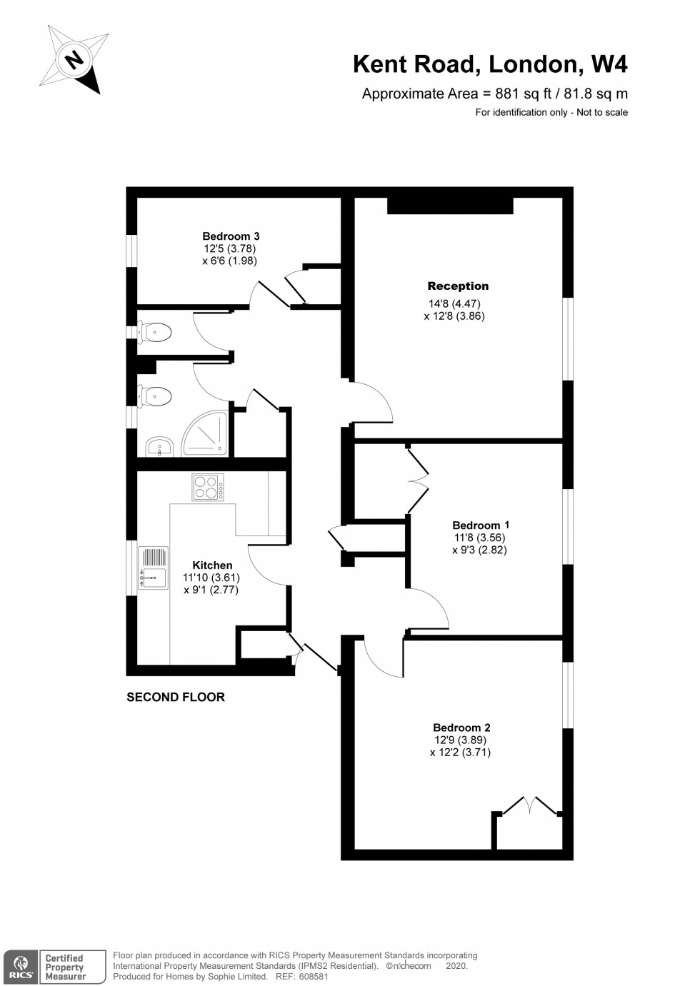 Floorplan for Kent Road, Chiswick